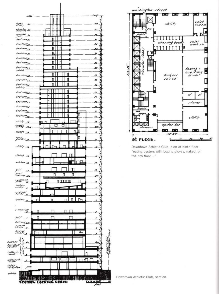Downtown Athletic Club building section